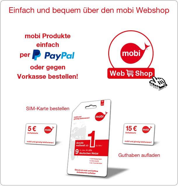 Paypal Karte Bestellen.Bestellen Mobi Mobil Und Gunstig Telefonieren